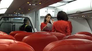 Beautiful stewardess airline AIR ASIA