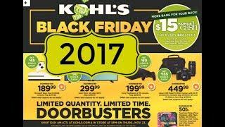 Kohl's Black Friday 2017 Full Overview!