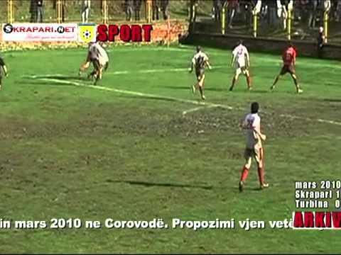 Skrapari Turbina ndeshja e Mars 2010 Incidenti Portieri qellon arbitrin Ja video
