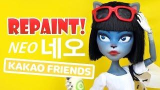 Repaint! Kakao Talk Friends Neo 카카오 프렌즈 네오 Custom Ooak Doll!