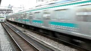【高速通過】 埼京線205系 高田馬場を通過 (6扉車無し)