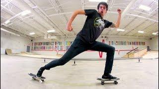 CAN YOU SKATEBOARD ROLLER-SKATE!? / Warehouse Wednesday!