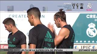 Real Madrid prepare for the visit of Barcelona in the Spanish Super Cup!