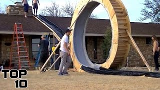 Top 10 Craziest Home Made Water Slides
