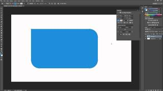 Photoshop Tutorial: CC New Rectangle Corner Radius Options -HD-