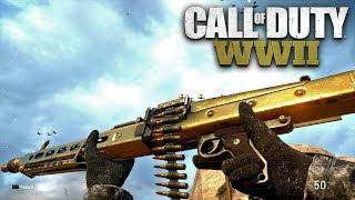 ROAD TO CHROME (GOLD MG42) - Call of Duty: WW2 Multiplayer Gameplay - PS4 PRO