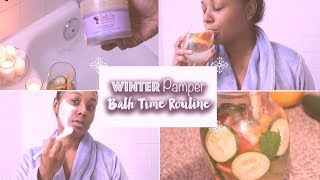 ❄️Winter PAMPER & BATH TIME ➟ DIY SPA AT HOME Feat. Camille Rose Naturals Body Collection