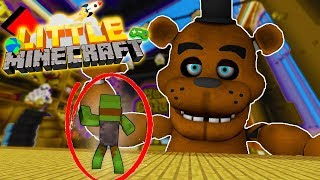 GIANT FREDDY FASBEAR TOY IS ALIVE!! - Little Minecraft Series #2 w/ TinyTurtle