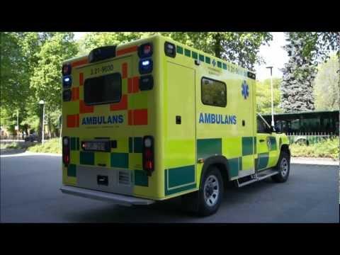 Ny ambulans på utryckning