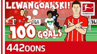 Lewandowski's 100th Goal for Bayern Song - Powered by 442oons