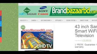 Samsung 43 inch Smart LED K5500 Price in Bangladesh - Brand Bazar