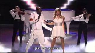 The Black Eyed Peas - Just Can't Get Enough (Live on American Idol) - Video with Lyrics/Subtitles