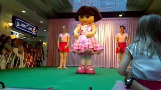 Ziv dancing with Dora and Boots