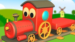 Alphabet Train For Children | Learn Street Vehicles Names by Kids Channel