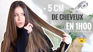 +5 CM DE CHEVEUX EN 1H 😨