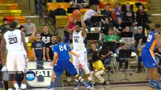 Utah State's Nine first half 3's vs San Jose State