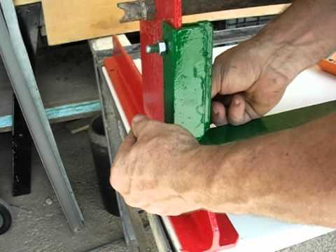 Plegadora o dobladora de chapa casera de guillotina manual 4 5 Montaje.