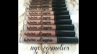 Nyx cosmetics lip lingerie ! Reseña y Muestra de colores