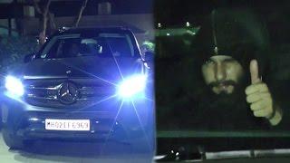 Ranveer Singh Spotted In His New Black Mercedes SUV Car In Mumbai