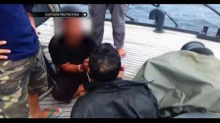 Penangkapan Tersangka Penyelundupan Sabu Lewat Kapal Laut - Customs Protection