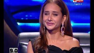 """100 سؤال - الفنانة نيللي كريم ترد على """" قبلتها الساخنة """" مع هاني سلامة"""