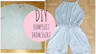 Thrifted transformation shirt to jumpsuit