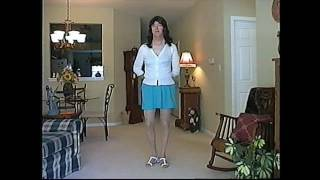 back in time - a short turquoise skirt (redux)