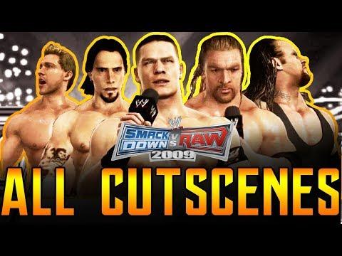 WWE SVR 2009 | Road To Wrestlemania All Cutscenes Full Movie PS3/Xbox 360 1080p