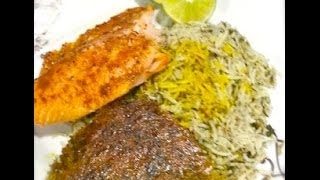 Persian Home Cooking Sabzi Polow , Persian Herb Rice Dish , Great For Parties