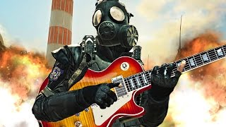 Playing Guitar on Call of Duty - I Took A Pill In Ibiza (Musical Warfare)