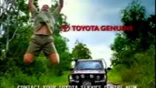 Steve Irwin, The Crocodile Hunter  Toyota J78 Landcruiser commercial 1 and 2