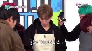 [MONSTA X] Kihyun's struggle with 6 kids (more like with Wonho and Minhyuk)