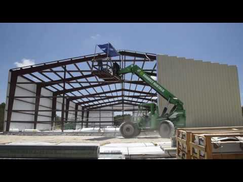 2J&C Construction. Metal building construction in progress