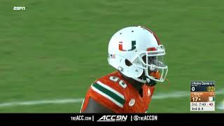 Notre Dame at Miami (FL) College Football Condensed Game