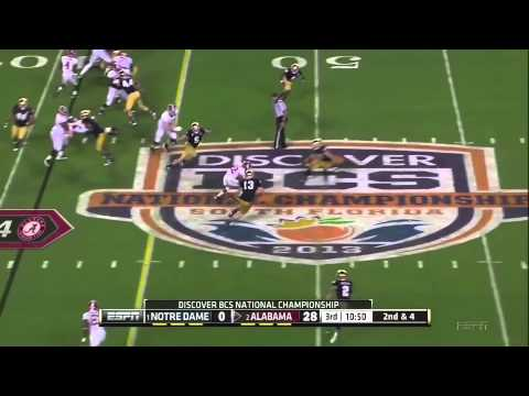 2013 BCS National Championship Game 1 Notre Dame vs. 2 Alabama Highlights