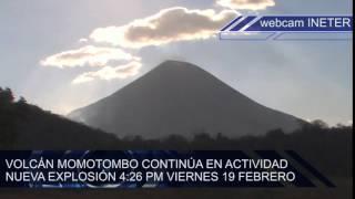 Volcán Momotombo continúa registrando explosiones