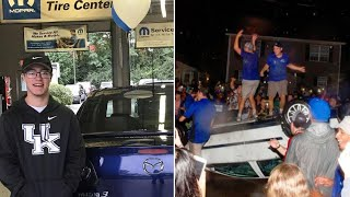 Teen Whose Car Was Totaled by University of Kentucky Fans Gets New One for Free