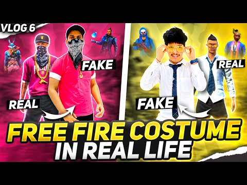 Wearing Free Fire Clothes In Real Life Reaction on Second ElitePass😵🤣 Two Side Gamers Vlog 6