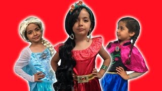 Disney Princess In Real Life - Elsa And Anna + Elena Of Avalor + 5 Surprise Eggs + Kinder Egg! NEW!