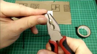 (045) - Tutorial: Advanced bobby pin lock picks. Creation and picking demonstration.