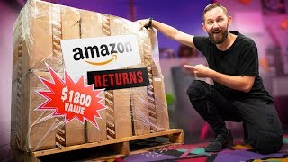 We Bought an $1,800 MYSTERY Crate of Amazon.com Returns!