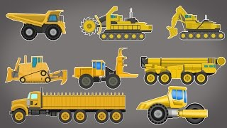 Giant vehicles | construction vehicles | cartoon video for kids