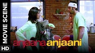 A suicidal attempt | Anjaana Anjaani | Movie Scenes