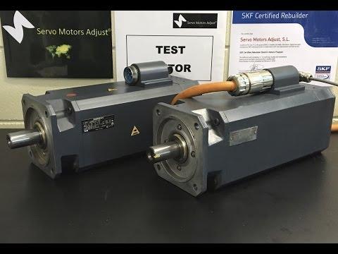 Siemens Type.1FT6086-1AF71-3EH servo motor test - SERVO MOTORS ADJUST®-