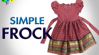 Simple Frock- Cutting and Stitching