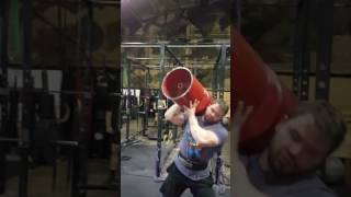 115 lb circus dumbbell practice