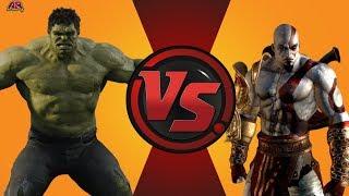 Hulk (World Breaker Hulk) vs Kratos! Cartoon Fight Night Episode 9!