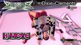 Rumble Roses XX Dixie Clements Humiliation Move (H-Move / H-K.O.)