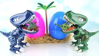 2 T-Rex born of Dinosaur eggs! Hungry Rex Eat Lego dinosaurs. Fun Toys Video For Kids. 알에서 태어난 공룡 토이