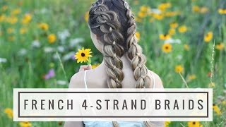 HOW TO: French 4-Strand Braid   Braids by Jordan